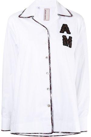 Antonio Marras Women Long Sleeve - Logo-patch shirt