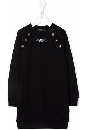 Balmain Girls Knitted Dresses - Long-sleeve knitted dress