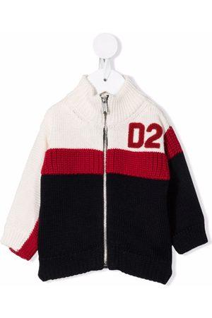 Dsquared2 Hoodies - Colour-block zip-up cardigan