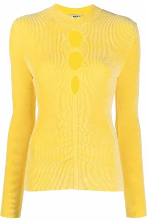 Msgm Women Long Sleeve - Cut-out chenille long-sleeve top