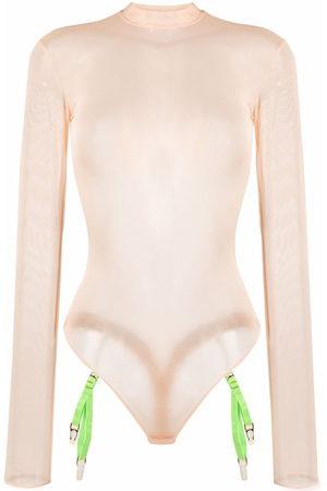 MAISON CLOSE Women Long Sleeve - Mesh long-sleeved bodysuit