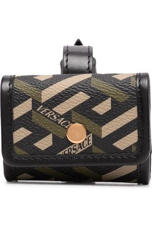 VERSACE Men Wallets - Greca-print buckle-fastening wallet