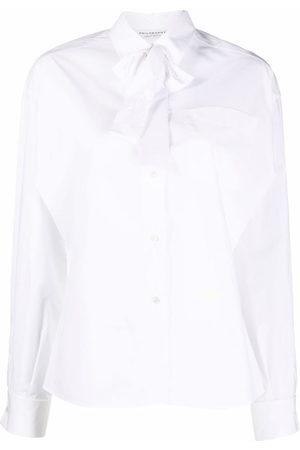 Serafini Pussy-bow collar shirt