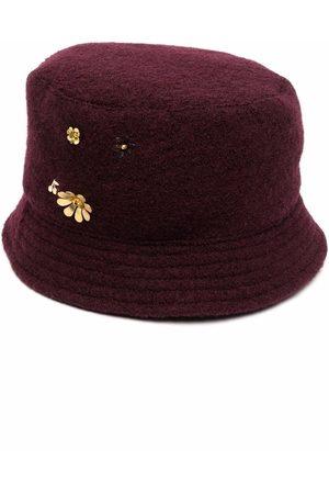 BONPOINT Girls Hats - Floral-embellished felted bucket hat