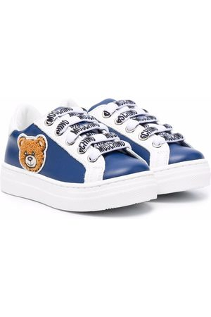 Moschino Sneakers - Teddy Bear-patch leather sneakers