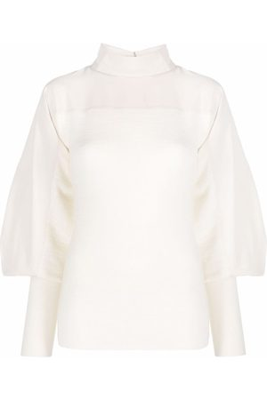 LEMAIRE Panelled mock-neck long-sleeve top