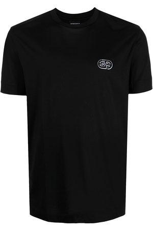 Emporio Armani Men Short Sleeve - Embroidered-logo crewneck T-shirt