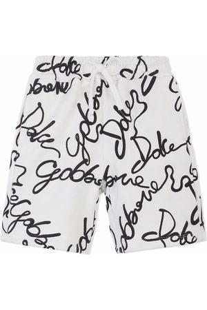 Dolce & Gabbana Boys Shorts - All-over logo print shorts
