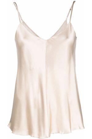12 STOREEZ Women Vests - V-back silk camisole
