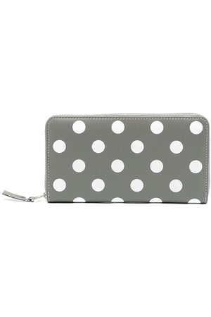 Comme des Garçons Polka-dot print leather wallet