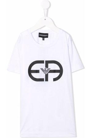 Emporio Armani Boys Short Sleeve - Logo-print T-shirt