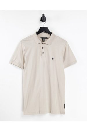 French Connection Men Polo Shirts - Polo in stone