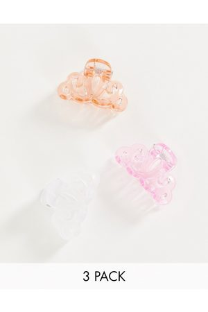 Accessorize Pack of 3 mini hair claw clips in pink mix