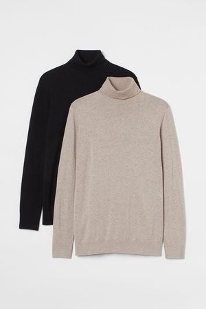 H&M Men Jumpers - 2-pack polo-neck jumpers