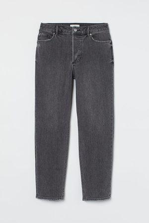 H&M Women Boyfriend - Slim Mom Ankle Jeans - Grey