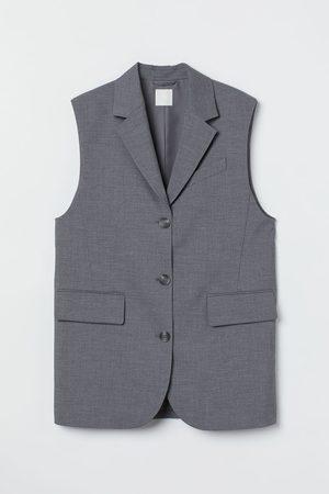 H&M Women Tank Tops - Sleeveless jacket - Grey