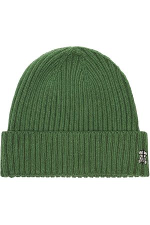 UNDERCOVER Men Beanies - Embroidered logo ribbed beanie
