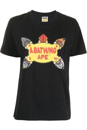 A Bathing Ape Women Short Sleeve - Graphic-print cotton T-shirt