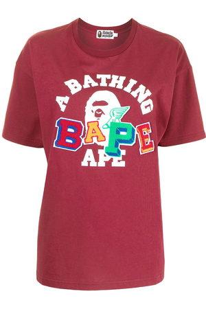 A Bathing Ape Women Short Sleeve - Logo-print cotton T-shirt