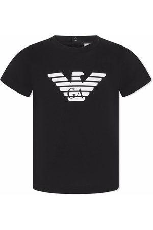 Emporio Armani Short Sleeve - Logo-print cotton T-shirt