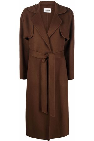 P.a.r.o.s.h. Belted-waist wool trench coat