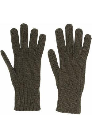 Moncler Men Gloves - Logo patch knitted gloves