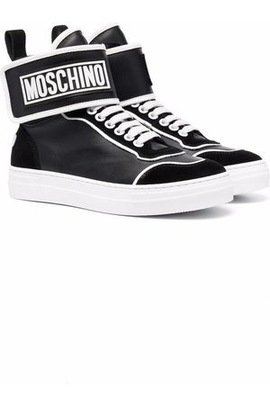 Moschino Sneakers - Logo-patch high-top sneakers