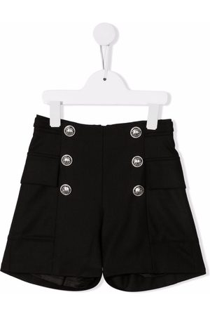 Balmain Girls Trousers - Embossed-button smart trousers