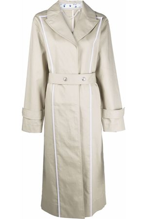OFF-WHITE Contrast-trim trench coat