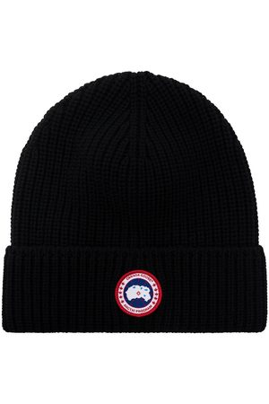 Canada Goose Men Beanies - Arctic Disc ribbed-knit beanie