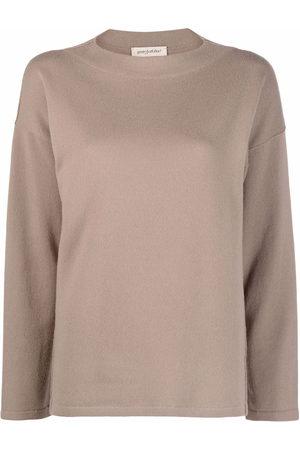 GENTRYPORTOFINO Women Long Sleeve - Drop-shoulder long-sleeved knitted top