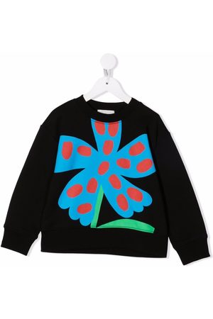 Stella McCartney Boys Sweatshirts - Floral-print cotton sweatshirt