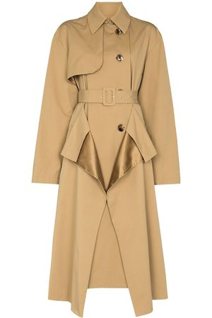 A.W.A.K.E. MODE Draped double-breasted trench coat