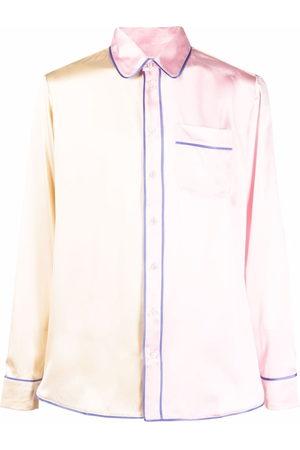 PIERRE-LOUIS MASCIA Two-tone pyjama shirt