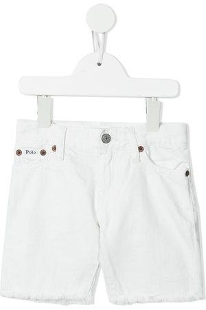 Ralph Lauren Boys Shorts - Raw-cut hem denim shorts