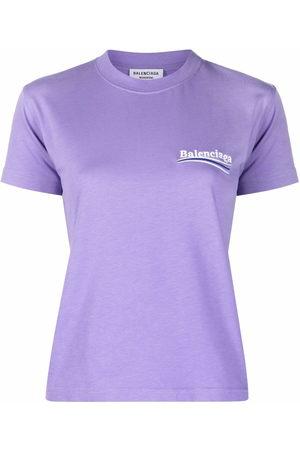 Balenciaga Women Short Sleeve - Political Campaign logo Small Fit T-shirt
