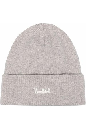 Woolrich Men Beanies - Embroidered-logo ribbed-knit beanie