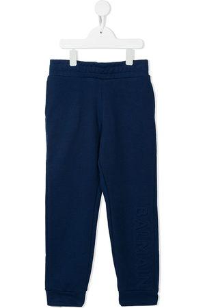 Balmain Boys Sports Trousers - Logo-lettering trackpants