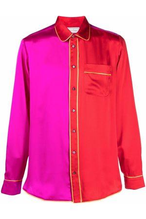 PIERRE-LOUIS MASCIA Long Sleeve - Two-tone panel shirt