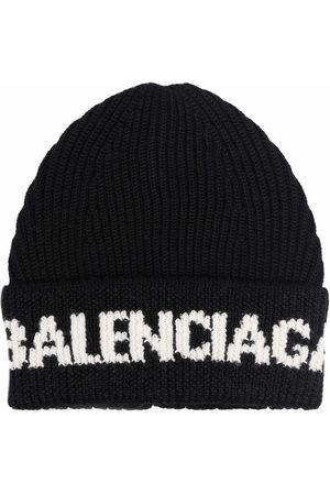 Balenciaga Men Hats - Intarsia-logo beane