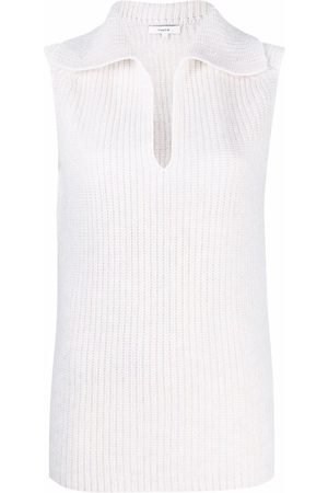 Vince Women Tank Tops - Ribbed-knit sleeveless top
