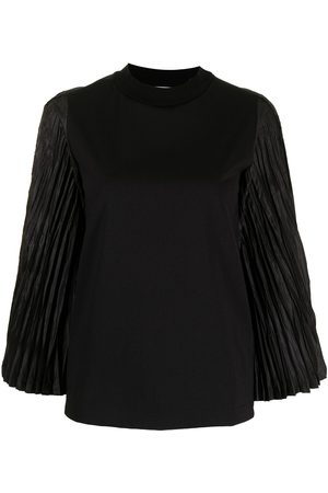 TOGA PULLA Women Long Sleeve - Pleated-sleeves crew neck top