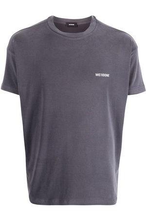 We11 Done Short Sleeve - Oversized logo-print jersey T-shirt