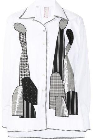 Antonio Marras Women Long Sleeve - Sequin-embellished shirt