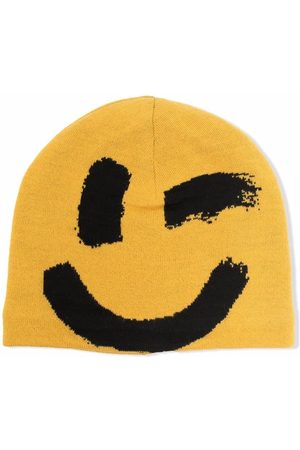 Molo Smiley-face knitted beanie