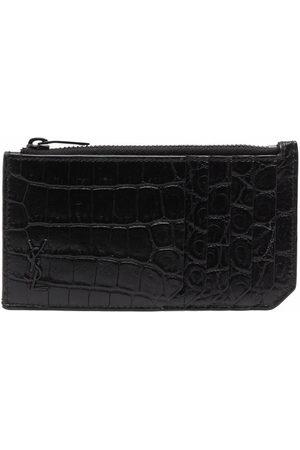 Saint Laurent Men Wallets - Croco-effect wallet