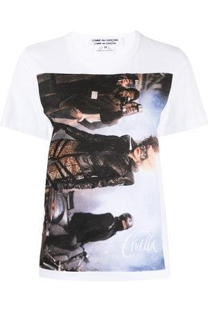 Comme des Garçons Women Short Sleeve - Cruella photograph-print T-shirt