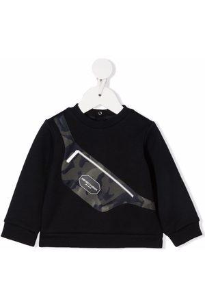 Emporio Armani Sweatshirts - Bag-print crewneck sweatshirt