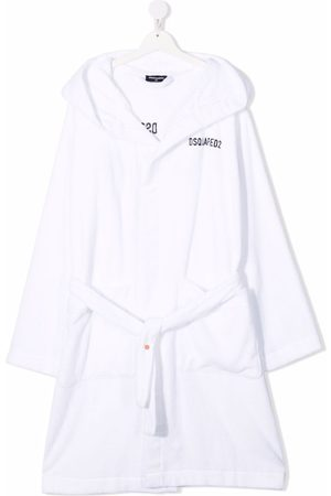 Dsquared2 Bathrobes - TEEN logo-embroidered cotton robe