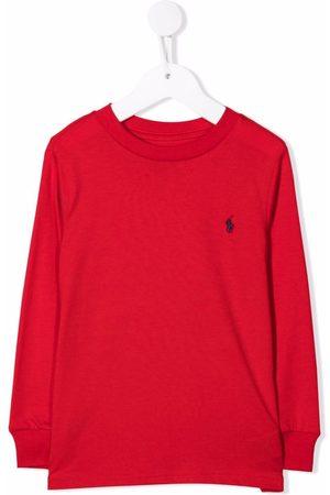 Ralph Lauren Boys Polo Shirts - Polo Pony-embroidered sweatshirt